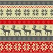Folk style Christmas seamless pattern