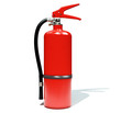 fire extinguisher on white background 3d rendering