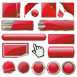 Red Collection Vector-Button-Set