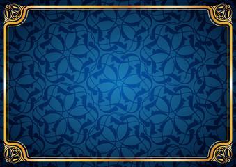 Oval köşe desenli mavi sevimli fon