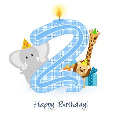 happy second birthday - buon compleanno - 2 anni