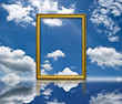 Photo frame on the sky.