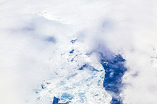 sheet of ice floating on the arctic ocean