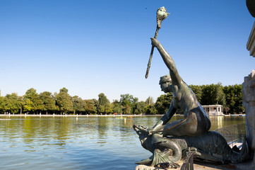 Bronze Siren,  Retiro Park, Madrid, Spain