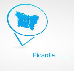 picardie région de france dans signet bleu