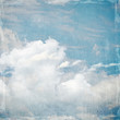 Fototapeten,blau,wolken,jahrgang,papier