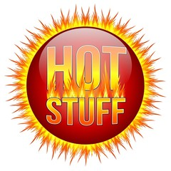 HOT STUFF - Button