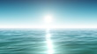Sea and sun. Blue sky. Looped animation. HD 1080.