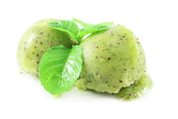 kiwi and mint ice cream