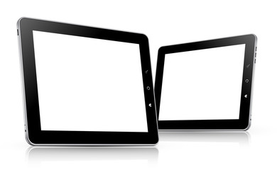 tablet computer set. vector illustration