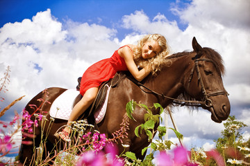 Beauty on horse
