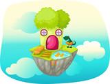 Sky hight lettuce house poster