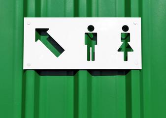 Toilettenhinweis