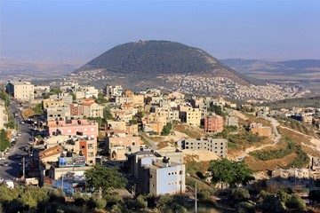 Mount Tabor and the Arab village