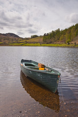 A small boat on Watendlath tarn