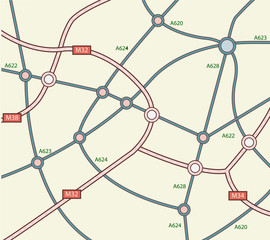 Abstract road map