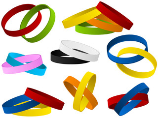 Set of colorful wristbands