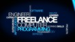 Freelance computer programming word tag cloud video