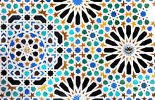 Płytki, mozaiki, płytki, Alhambra w Granadzie