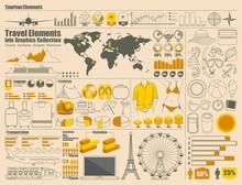 Reisen und Urlaub Icons, Vektor Infografiken