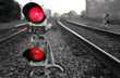 canvas print picture - The Train Signal