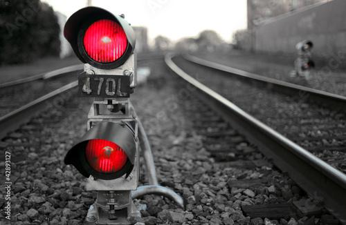 canvas print picture The Train Signal