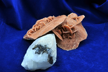Desert Rose and Quartz.Desert Rose is a beautiful form of gypsum