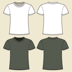 Gray and white t-shirt template