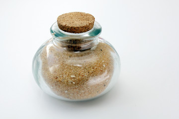 Frasco lleno de arena