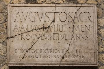 Herculaneum Latin Plaque