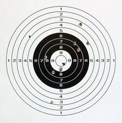 Paper target.