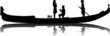 Romantic proposal in a Venetian gondola silhouette
