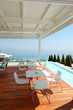 Sea view restaurant at the modern luxury hotel, Pieria, Greece