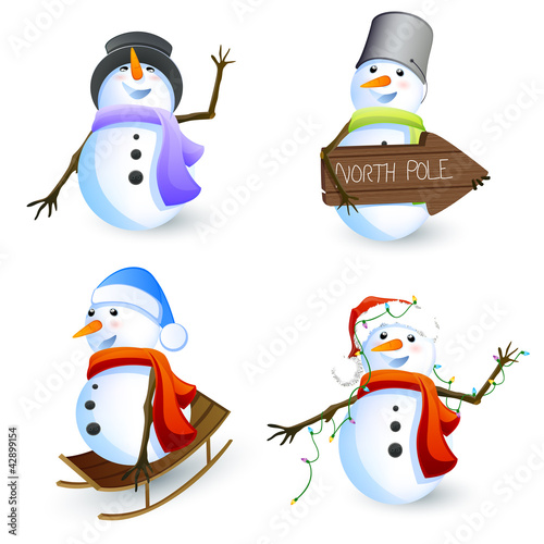 Vector Snowmen Collection