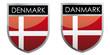 Denmark flag emblem