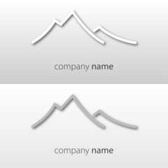 Dolomites, Logo, Vector, Mountain