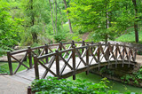 Old woooden park bridge, Sofiyevka, Uman, Ukraine