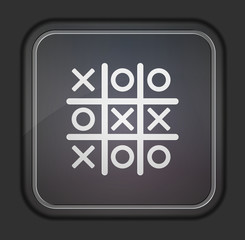 Vector version. Tic tac toe icon.  Easy to edit