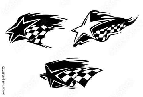 Fototapeta Racing symbols