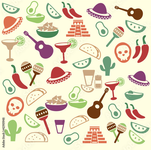 Mexican seamless pattern
