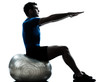man exercising workout fitness ball posture