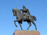 Statue of the king Tomislav riding a horse, Zagreb, Croatia