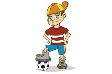 Menino Jogador de Futebol