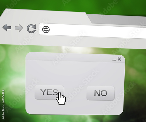 Yes Pop-up Window in Web Browser