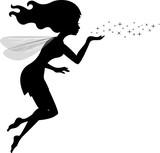 Fototapety Beautiful love fairy sanding blowing magic spell