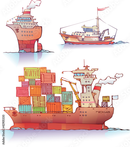 Three type of a ships.