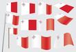 set of flags of Malta vector illustration