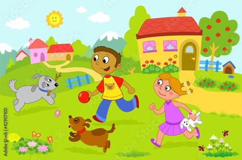 Disegno Di Bambino Che Corre : Gamesageddon illustrazione da colorare di bambino che corre con