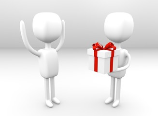Geschenk überreichen