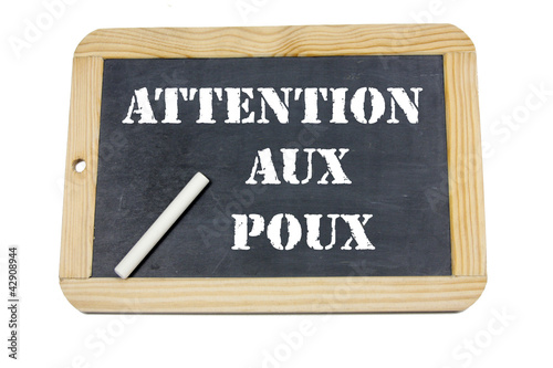 ardoise attention aux poux